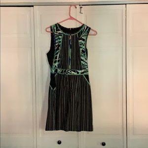 BCBG Short black printed dress